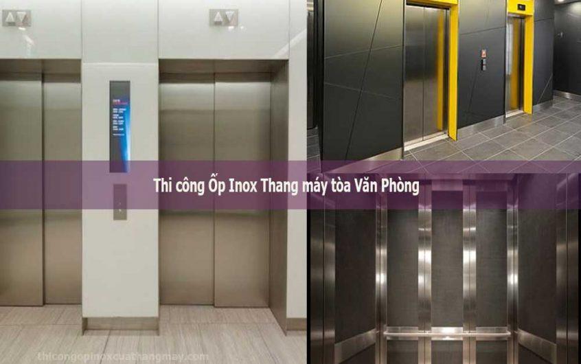 Thi công Ốp Inox Thang máy tòa Văn Phòng