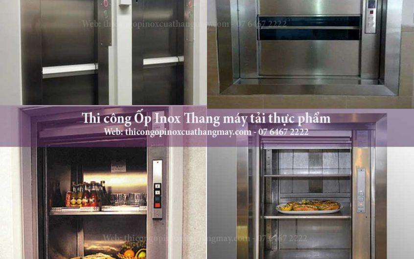 Thi công Ốp Inox Thang máy tải thực phẩm
